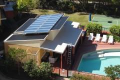 Austrálie: bazén v bytovém areálu